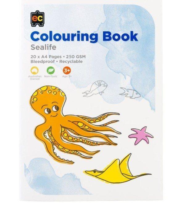 EC Sealife Colouring Book 1