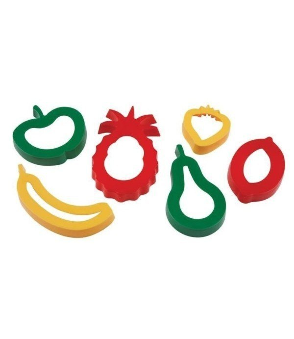 EC Fruit Shapes Dough Cutters – Set of 6 1