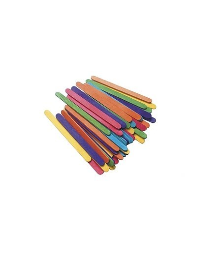EC Funstix – 100 coloured paddle pop sticks 1