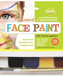 GLOB Natural Face Paint - 5 colours & applicator