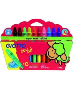 Giotto Be-Be Large Unbreakable Crayons - Pack 10
