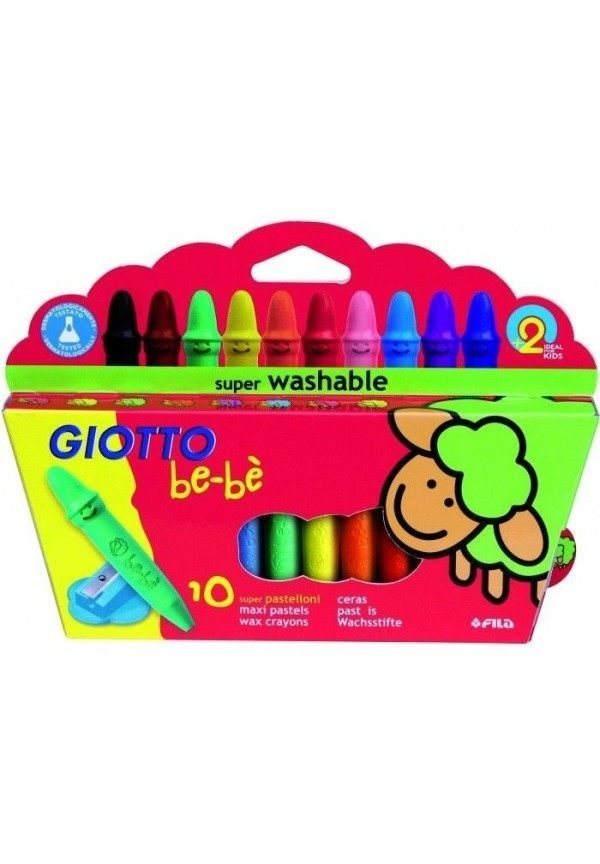 Giotto Be-Be Large Unbreakable Crayons – Pack 10 1
