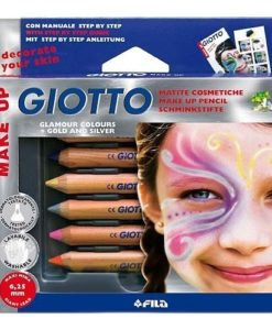 Giotto Make-Up Cosmetic Pencils (Face Crayons) - 6 Glamour Colours - FREE SHIPPING