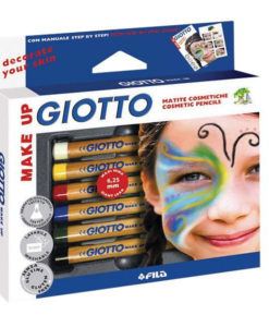 Giotto Make-Up Cosmetic Pencils (Face Crayons) - 6 Original Colours - FREE SHIPPING