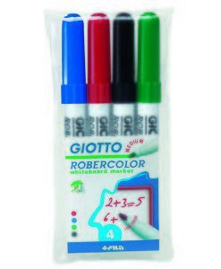Giotto Robercolor Whiteboard Markers - pack of 4 colours