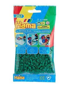 Hama Beads - Green - pack of 1000 (Standard Beads (Midi))
