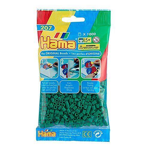 Hama Beads – Green – pack of 1000 (Standard Beads (Midi)) 1