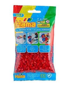 Hama Beads - Red - pack of 1000 (Standard Beads (Midi))