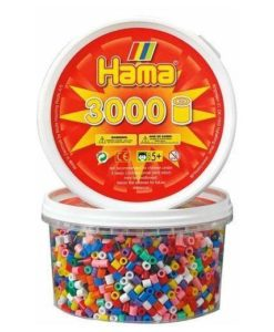 Hama Beads - Solid Mix 3000 Tub (Standard Beads (Midi))