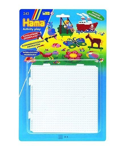Hama Beads – Pegboards (Square – Set of 4 interlockable) 1