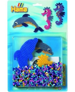 Hama Beads All-In-One Pack - Dolphin & Seahorse