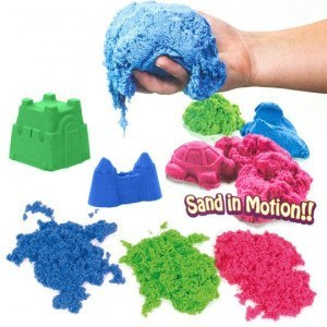 Kinetic Sand 2.5kg Coloured – Blue, Green & Red (2