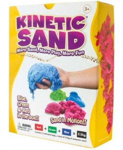 Kinetic Sand 2.5kg Coloured - Blue, Green & Red (2.5kg total)