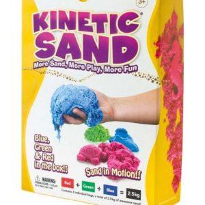 Kinetic Sand 2.5kg Coloured - Blue, Green & Red (2.5kg total)