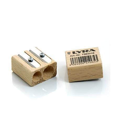 Lyra Twin Hole Wooden Sharpener 1
