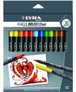 Lyra Aqua Brush Duo Fibre Pen (pack of 12)