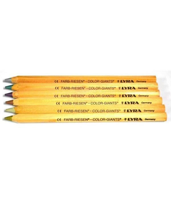 Lyra Color Giants pencils – set of 6 metallic colours 1