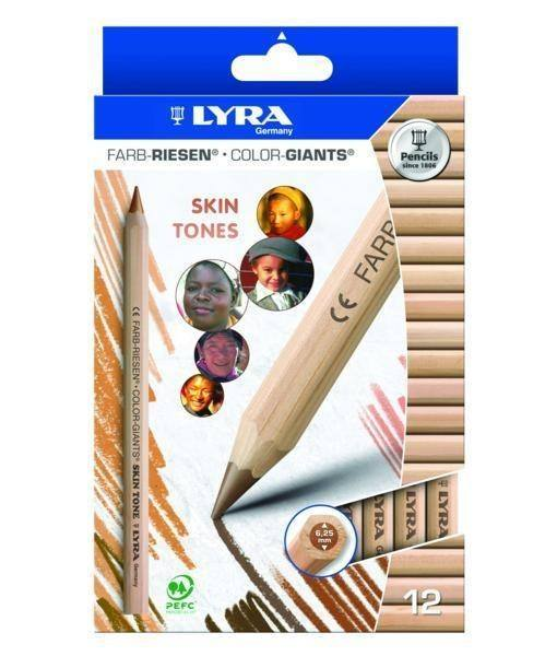 Lyra Color Giants Skin Tones Pencils – Pack of 12 1