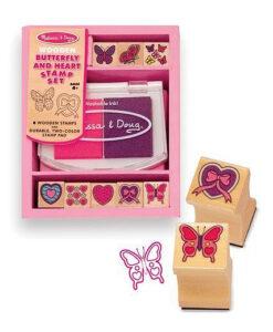 Melissa & Doug Butterfly & Hearts Stamp Set