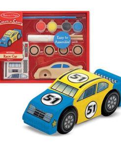 Melissa & Doug Create-A-Craft Wooden Race Car