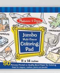Melissa & Doug Jumbo Multi-Theme Colouring Pad - Blue