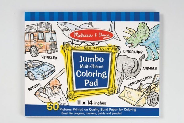 Melissa & Doug Jumbo Multi-Theme Colouring Pad – Blue 1