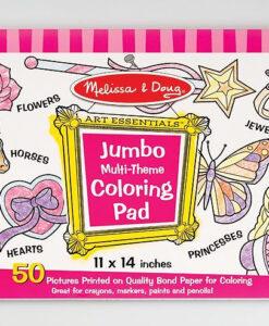 Melissa & Doug Jumbo Multi-Theme Colouring Pad - Pink