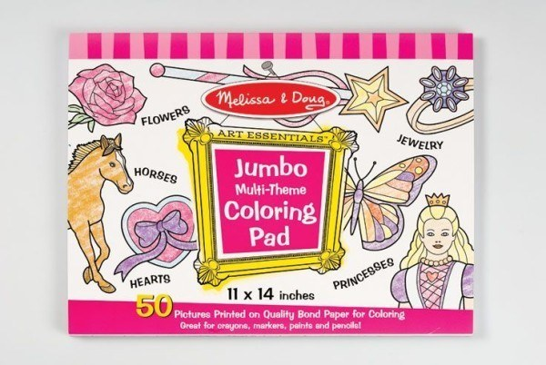 Melissa & Doug Jumbo Multi-Theme Colouring Pad – Pink 1