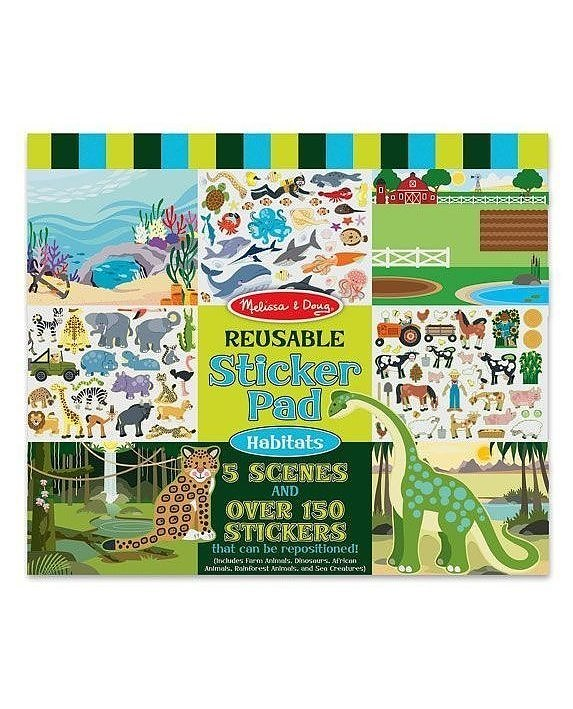 Melissa & Doug Reusable Sticker Pad – Habitats 1