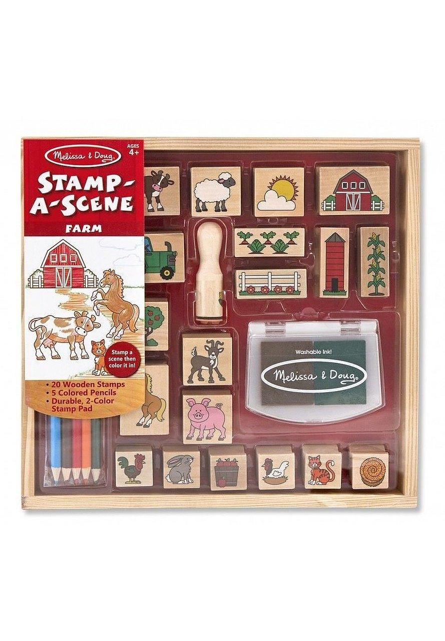 Melissa Amp Doug Stamp A Scene Farm Craft4kids Australia