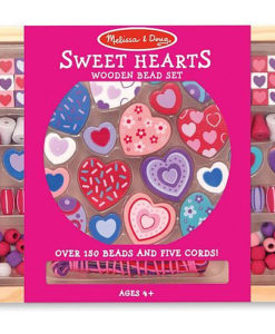 Melissa & Doug Sweet Hearts Wooden Bead Set