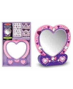 Melissa & Doug Decorate Your Own Wooden Heart Mirror