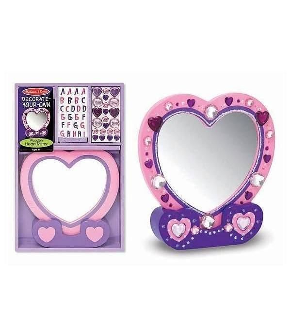 Melissa Doug Decorate Your Own Wooden Heart Mirror