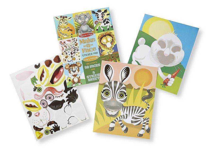 Melissa Amp Doug Make A Face Sticker Pad Crazy Animals