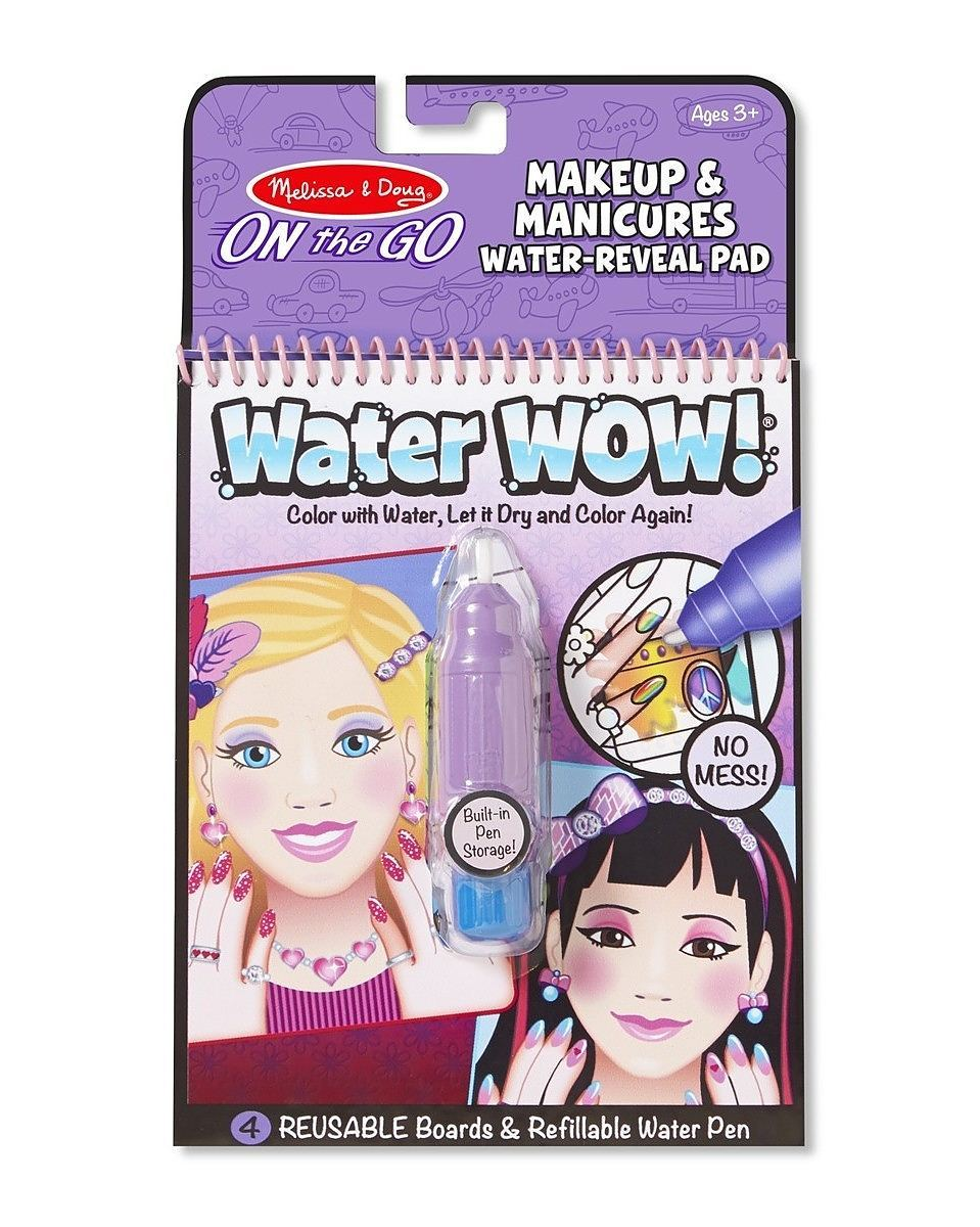 Melissa & Doug Water WOW! Book – Makeup & Manicure (colour with ...
