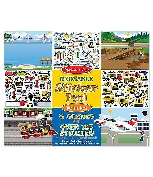 Melissa & Doug Reusable Sticker Pad – Vehicles 1