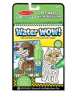 Melissa & Doug Water WOW! Book - Pet Mazes (colour with water)