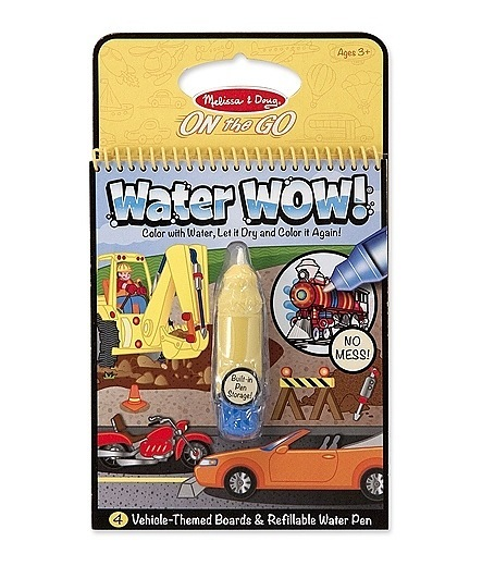 Melissa & Doug Water WOW! Book – Vehicles (colour with water) 1