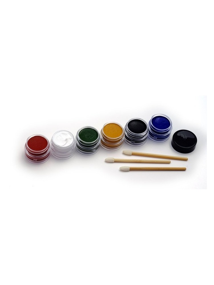 Natural earth paint natural face paint kit 6 colours or for Eco friendly colours for painting