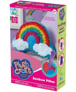 Plush Craft - Rainbow Pillow Fabric By Numbers Kit
