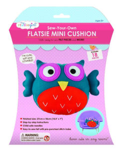 My Studio Girl Sew-Your-Own Flatsie Mini Cushion - Owl