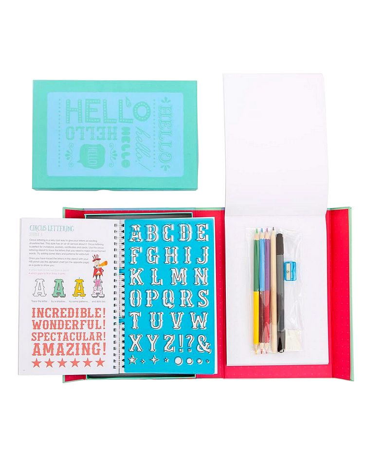Tiger Tribe Lovely Book Of Lettering Kit Includes
