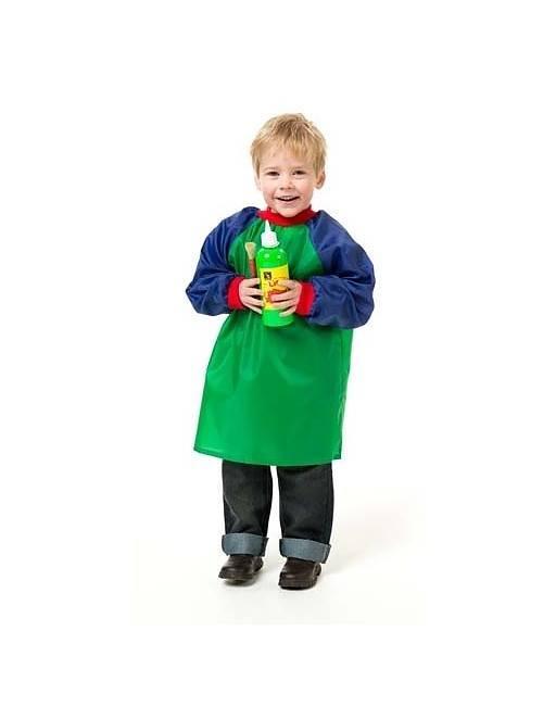 EC_Toddler_Art_Smock_Green_Blue_Ages_2-4