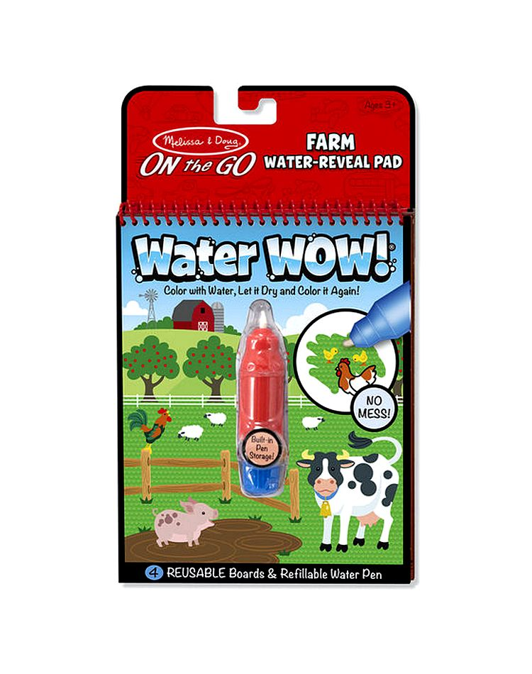 Melissa & Doug Water WOW! Book – On The Farm (colour with water ...