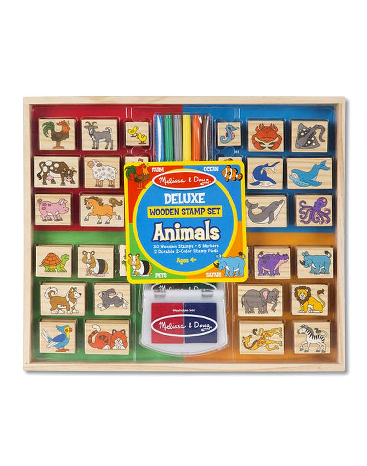 Melissa_and_Doug_Deluxe_Wooden_Stamp_Set_Animals_1